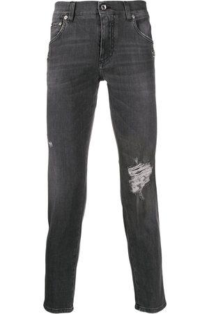 Dolce & Gabbana Distressed skinny jeans - Grey