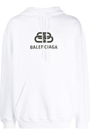 Balenciaga Men Hoodies - Logo print hoodie
