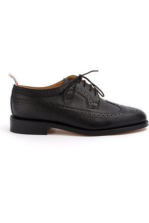 Thom Browne Women Formal Shoes - Classic Longwing Brogue Flat In Pebble Grain