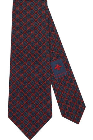 Gucci Men Bow Ties - GG rhombus motif silk tie