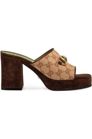 Gucci 60mm GG mid-heel platform mules