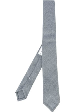 Thom Browne Classic Necktie In School Uniform Plain Weave - Grey