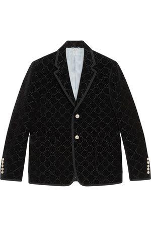 Gucci Men Blazers - Palma GG velvet jacket