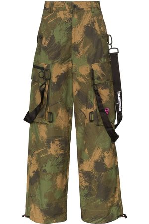 OFF-WHITE Men Cargo Pants - Camouflage loose cargo trousers