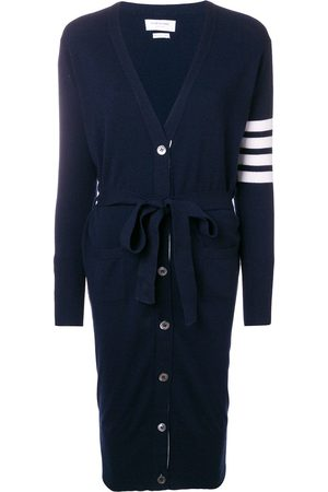 Thom Browne Women Cardigans - Long Boxy Cashmere Cardigan