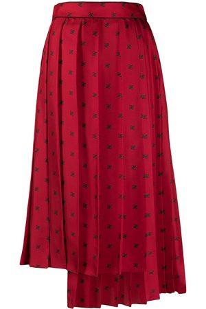 Fendi Karligraphy motif pleated skirt