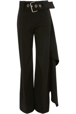J.W.Anderson Women Straight Leg Pants - Oversize belt straight trousers