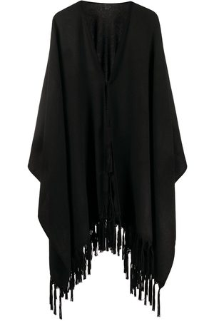 Saint Laurent Cashmere fringed poncho