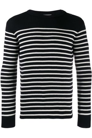 Saint Laurent Men Sweaters - Marinère striped knitted jumper