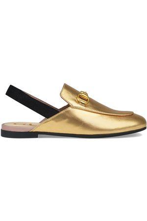 Gucci Children's Princetown leather slipper - Metallic