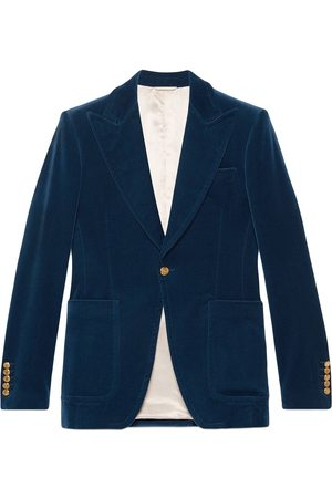Gucci Men Blazers - Velvet formal jacket