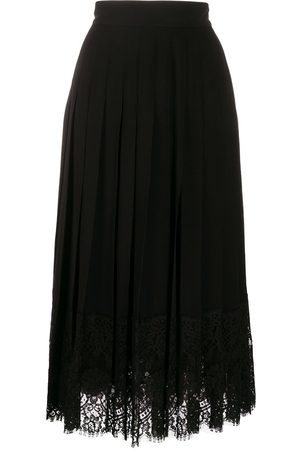 Dolce & Gabbana Women Skirts - Flared lace-hem skirt