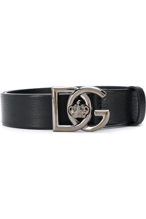 Dolce & Gabbana Crown logo buckle belt