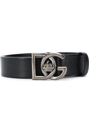 Dolce & Gabbana Crown logo buckle belt