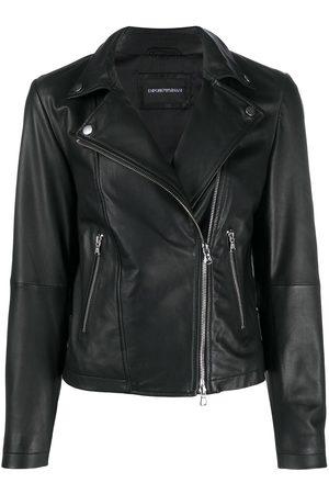 Emporio Armani Zipped biker jacket