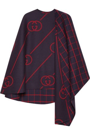 Gucci Women Ponchos & Capes - GG wool cape