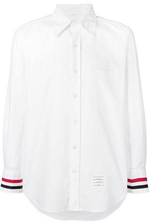 Thom Browne Men Shirts - Grosgrain Cuff Oxford Shirt