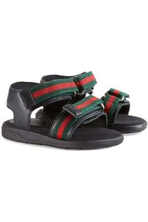 Gucci Sandals - Toddler leather sandal with Web straps