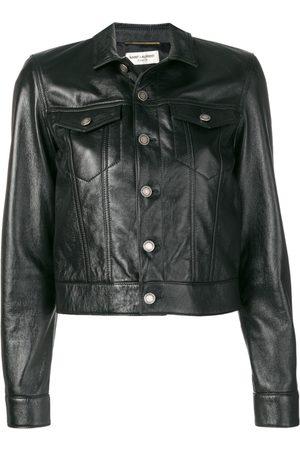 Saint Laurent Women Leather Jackets - Hybrid jacket