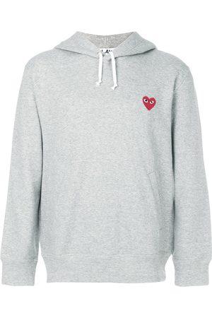 Comme des Garçons Heart logo hoodie - Grey