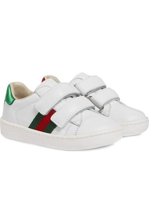 Gucci Toddler leather web detail sneakers