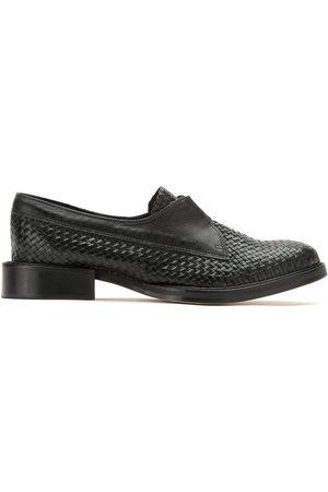 Sarah Chofakian Woven-effect loafers