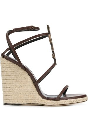 Saint Laurent Cassandra wedge sandals