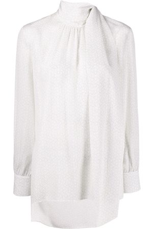 Fendi Women Blouses - Foulard collar blouse