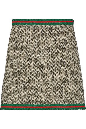 Gucci Tweed Web stripe skirt