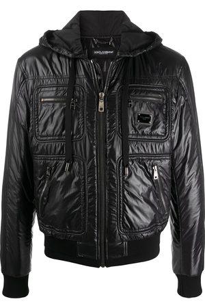 Dolce & Gabbana Logo plaque padded jacket