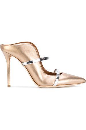 MALONE SOULIERS Maureen heeled mules - Metallic