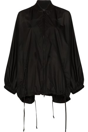 VALENTINO Knit detail batwing raincoat