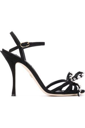 Dolce & Gabbana 105 crystal embellished suede sandals