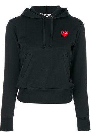 Comme des Garçons Women Hoodies - Heart-patch hoodie