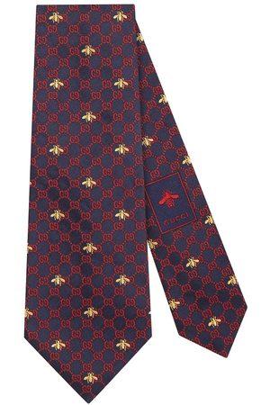 Gucci GG bees silk tie
