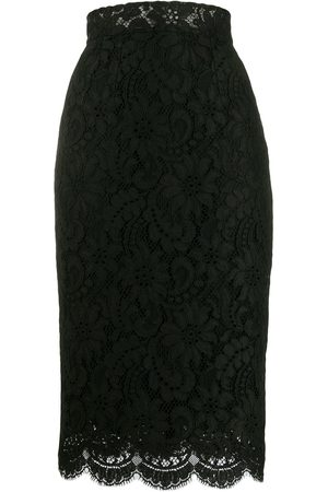 Dolce & Gabbana High-waisted lace pencil skirt