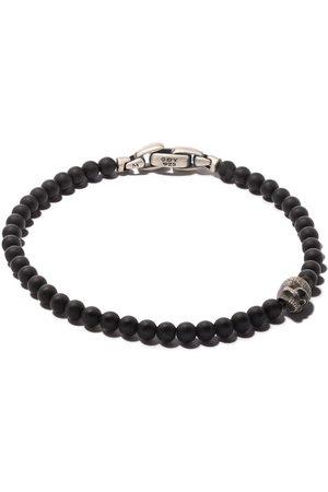 David Yurman Spiritual Beads black onyx and silver skull bracelet - SSBBO