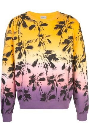Saint Laurent Palm trees print sweatshirt - Multicolour