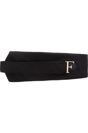 Gianfranco Ferré 1990s logo buckle belt