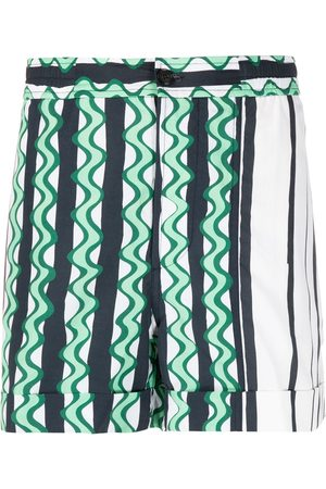 Neil Barrett Abstract-print swim shorts