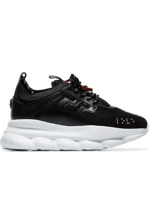 VERSACE Chain Reaction suede trim sneakers