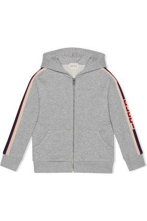 Gucci Children's sweatshirt with Gucci stripe - Grey