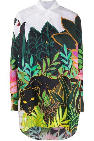 VALENTINO Leaf-print button-up shirt