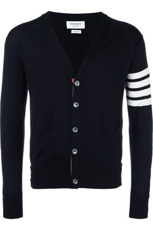 Thom Browne Men Cardigans - 4-Bar knitted cardigan