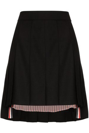 Thom Browne Pleated step-hem mini skirt