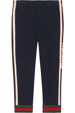 Gucci Boys Pants - Children's pant with Gucci jacquard trim
