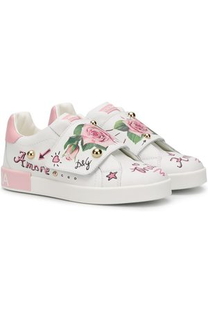Dolce & Gabbana Tropical rose print sneakers