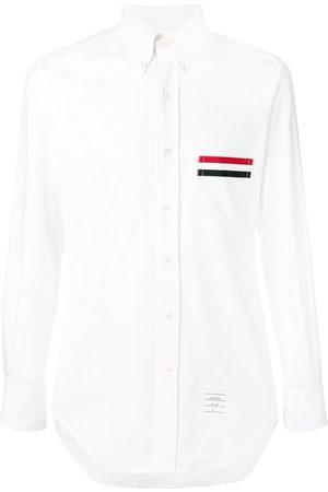 Thom Browne Men Shirts - Grosgrain Pocket Trim Oxford Shirt