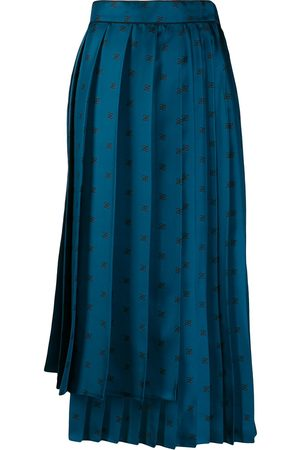 Fendi Karligraphy motif pleated skirt