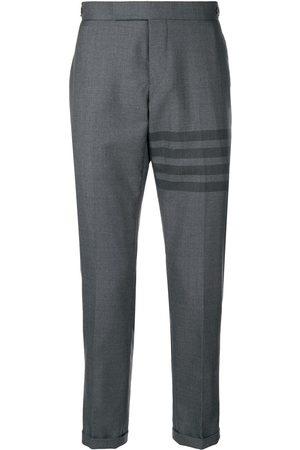 Thom Browne Men Skinny Pants - 4-Bar Skinny-Fit Trouser - Grey
